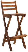 Asstd National Brand Tundra Foldable Outdoor Teak Barstool