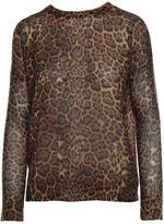 360 Sweater Persephone Leopard-print Cashmere Sweater