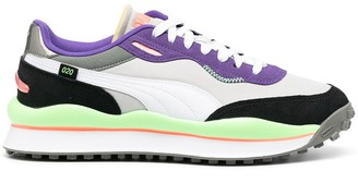 Puma Colour Block Lace-Up Trainers