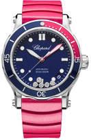 Chopard 40mm Happy Ocean Sport Medium Watch with Diamonds, Blue/Red