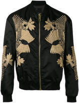 Les Hommes embroidered bomber jacket - men - Cotton/Polyamide/Spandex/Elastane/Metallic Fibre - 46