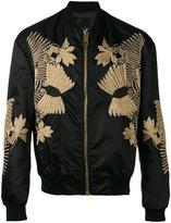 Les Hommes embroidered bomber jacket - men - Cotton/Polyamide/Spandex/Elastane/Metallic Fibre - 48
