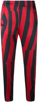 Ann Demeulemeester cropped striped trousers - women - Cotton/Rayon/Silk/Spandex/Elastane - 36