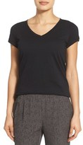 Eileen Fisher Women's Organic Cotton V-Neck Short Sleeve Tee
