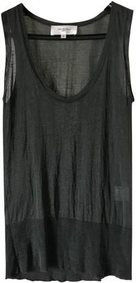 Rue Du Mail Khaki Silk Top for Women