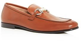 Salvatore Ferragamo Men's Shepard Marble Gancini Bit Leather Apron-Toe Loafers