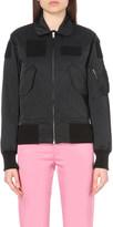 Yang Li Contrast pocket shell bomber jacket