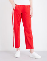 Mo&Co. Striped knitted jogging bottoms