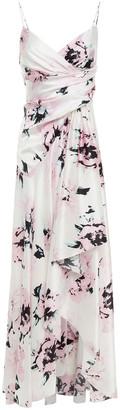 Alexandre Vauthier Draped Floral-print Stretch-silk Dress