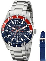 Nautica Men's NAD16503G NST 07 Multi Analog-Display Japanese Quartz Silver-Tone Watch