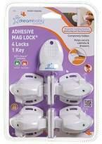 Dream Baby Dreambaby Adhesive Mag Locks - White - 2 Packs Of 4 Locks & 1 Key = 8 Locks & 2 Keys