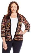 Pendleton Women's Plus-Size Stella Printed Cardi Sweater