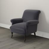 The White Company Draycott Scroll-Back Velvet Chair