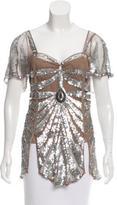 Temperley London Sequin Embellished Blouse