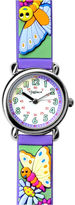 Dakota Fusion Kids' Purple Butterflies Strap Watch