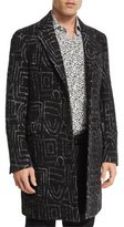 Etro Graphic-Pattern Jacquard Overcoat