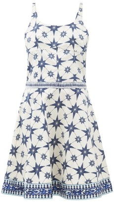 Le Sirenuse Positano Le Sirenuse, Positano - Cindy Star-print Cotton-poplin Mini Dress - Blue Print