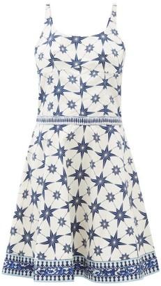 Le Sirenuse Le Sirenuse, Positano - Cindy Star-print Cotton-poplin Mini Dress - Womens - Blue Print