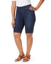 Gloria Vanderbilt Classic Fit Knit Bermuda Shorts-Plus (10.5)