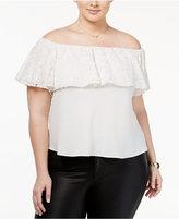 Rachel Roy Trendy Plus Size Off-The-Shoulder Top