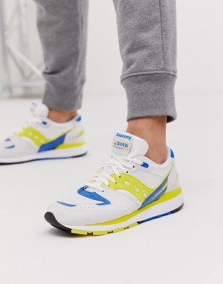 Saucony Azura OG trainers in white / yellow