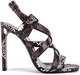 Saint Laurent Bea Ankle Strap Sandals in Brown | FWRD