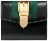 Gucci Sylvie leather wallet - women - Leather/Nylon - One Size