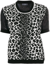 Salvatore Ferragamo leopard print blouse