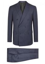 Pal Zileri Navy Grid-jacquard Wool Suit