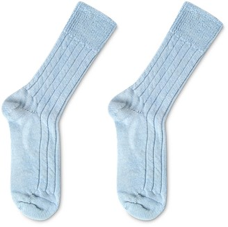 Heating & Plumbing London Luxury Lounge Socks In Alpaca - Light Blue