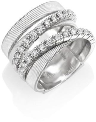 Marco Bicego Masai Diamond & 18K White Gold Five-Strand Ring