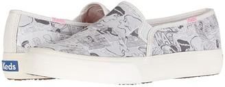 Keds x Betty and Veronica Double Decker Comic (Cream/Black Twill) Women's Slip on Shoes