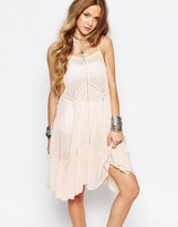 Glamorous Festival Cami Dress With Panel Detail & Lace Up Sides