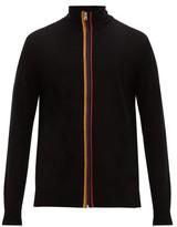 Paul Smith - Artist Stripe Zip Through Merino Sweater - Mens - Black