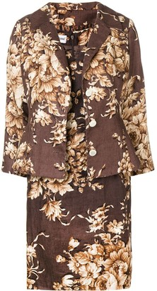 Dolce & Gabbana Pre-Owned 2000's floral three-piece skirt suit