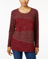 Style&Co. Style & Co Petite Rhinestone Marled Top, Only at Macy's