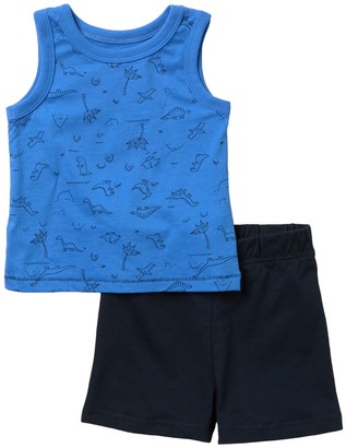 Joe Fresh Graphic Tank & Shorts Set (Baby Boys)
