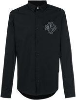 Versace logo patch shirt - men - Cotton - 46