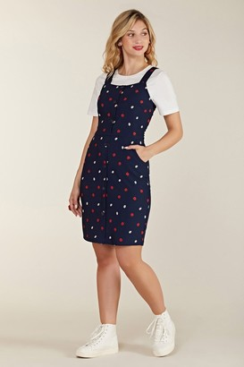 Yumi Ladybird And Daisy Printed Pinafore Dres