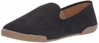 Tahari Womens Bellona Perforated Slip-On Sneaker Black Nubuck 7 M