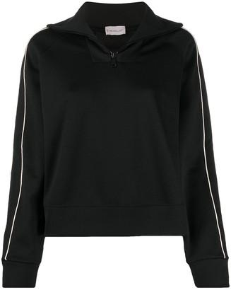 Moncler Side-Stripe Zipped Sweatshirt