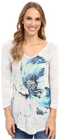 Lucky Brand Painted Floral Tee