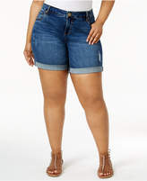 KUT from the Kloth Plus Size Catherine Destructed Denim Shorts