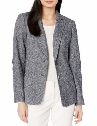Tommy Hilfiger Women's Two Button Marled Sweatshirt Blazer