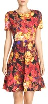 ECI Women's Floral Print Fit & Flare Dress