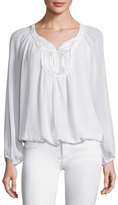 Max Studio Long Sleeve Yoke Blouse, Ivory