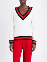 Claudie Pierlot Mike V-neck wool-blend jumper