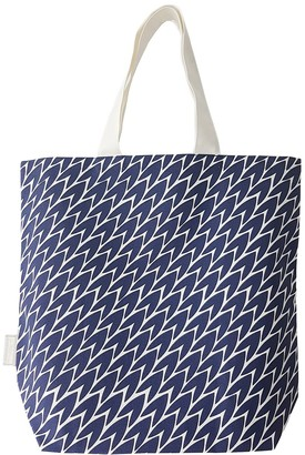Laura Jackson Design Leaf Tote Bag Dark Blue