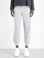 Allude Skinny mid-rise wool and cashmere-blend jogging bottoms