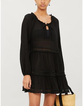 Eberjey Sofia woven mini dress
